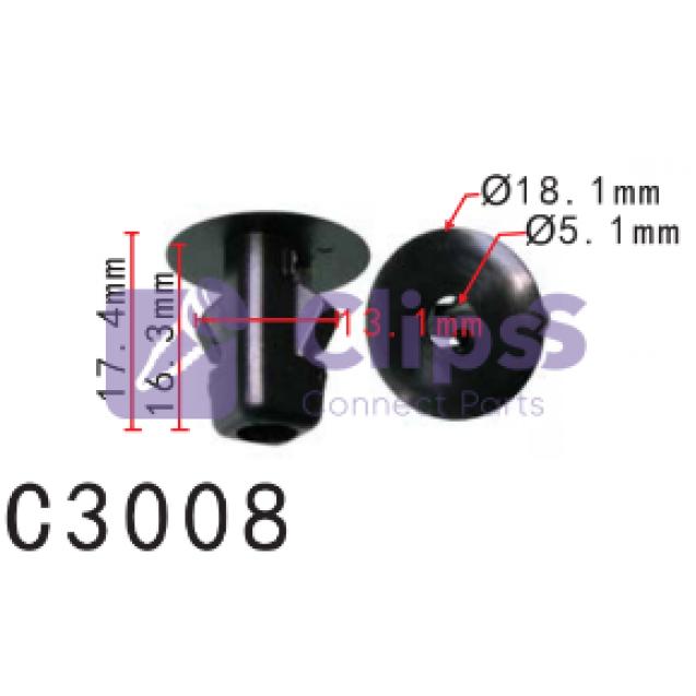 Втулка Citroen Peugeot Toyota (6822QP,  9018906047,  90189-06047)