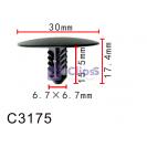 Крепление обшивки / тепло-шумоизоляция капота GM, Chevrolet, Opel, Cadillac, Buick (11571159, 10595)