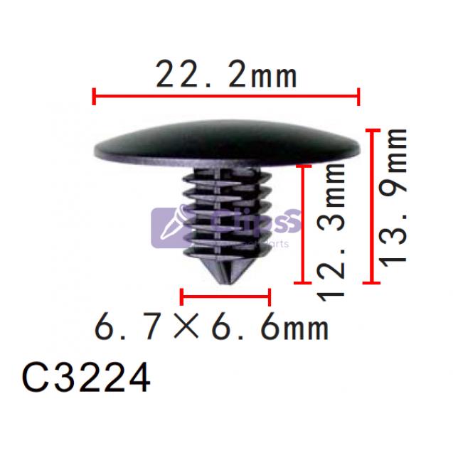 Держатель обшивки Nissan, Infiniti (66820-1KM0A, 668201KM0A)