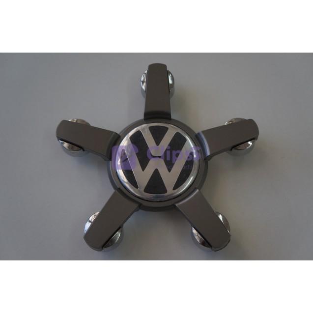 Колпак на литые диски Volkswagen хром / черный 5 лап (1 шт) 4L0601165D
