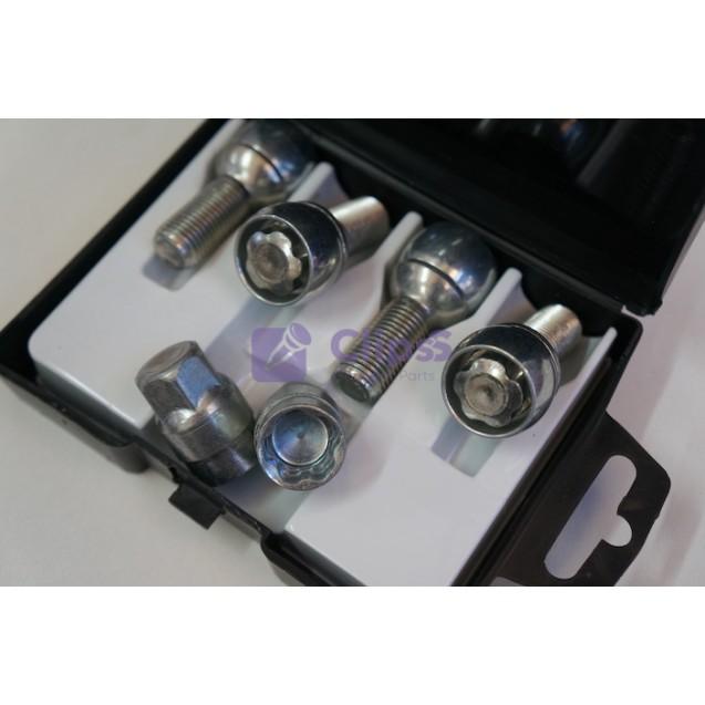 Секретки Farad B54/D Болт 14x1,5 (Ключ 17 / сфера R13 / длина 28 мм) Audi, VW, Seat Skoda, Seat, Mercedes, Infiniti, Ssangyong
